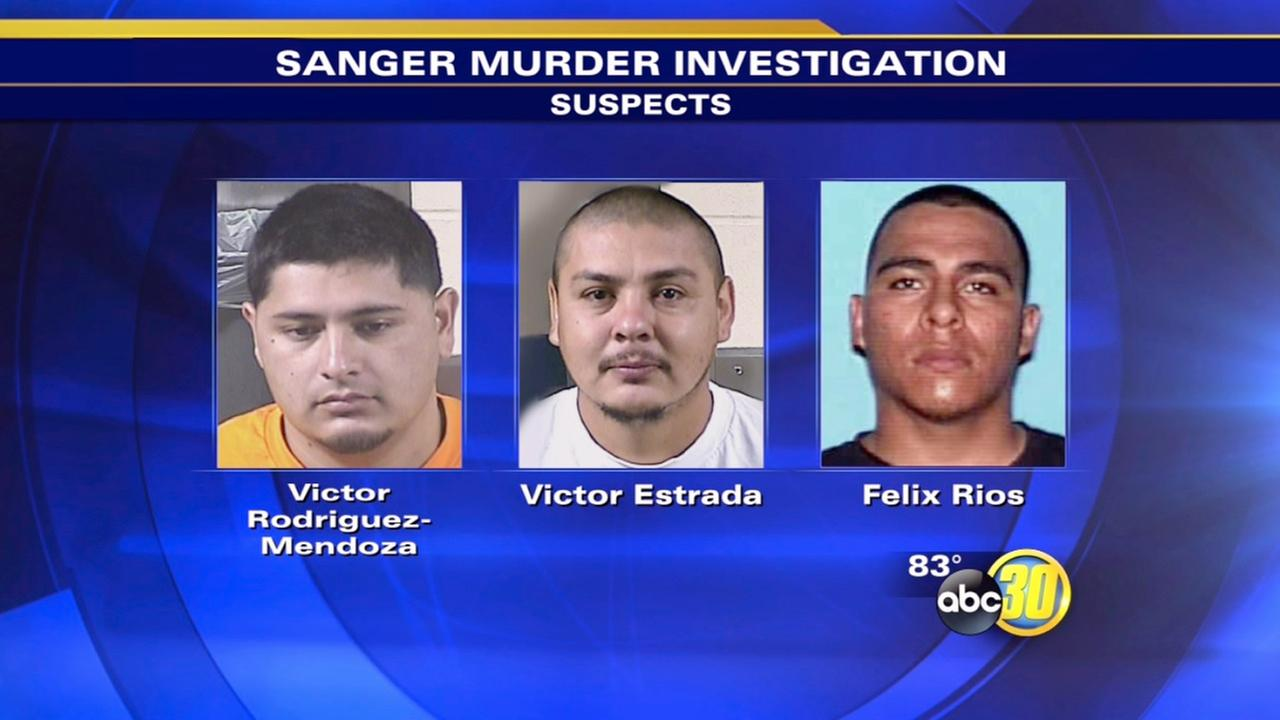 Sanger murder arrests - suspects