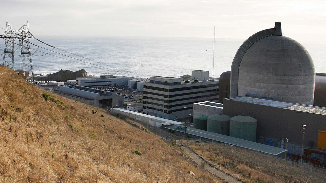 FILE - This Monday Nov. 3,2008 file photo shows one of Pacific Gas and Electrics Diablo Canyon Power Plants nuclear reactors in Avila Beach on Californias central coast.