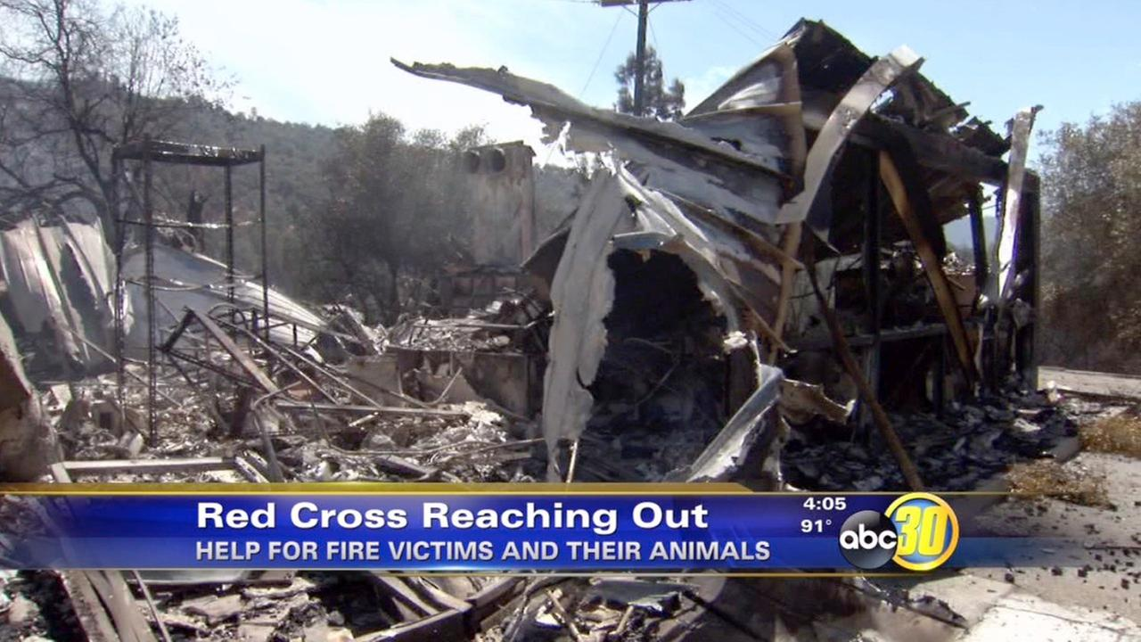 Junction Fire contained; Red Cross offers help to Oakhurst residents