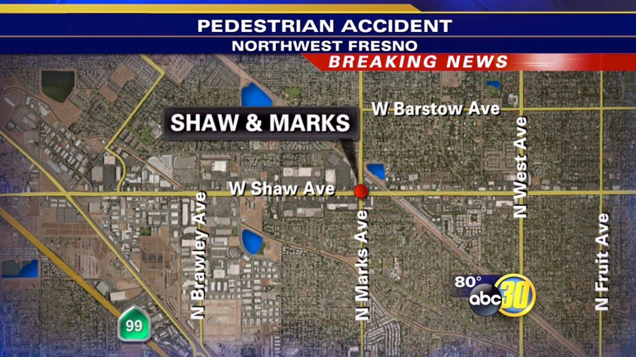 Pedestrian struck by vehicle in Northwest Fresno