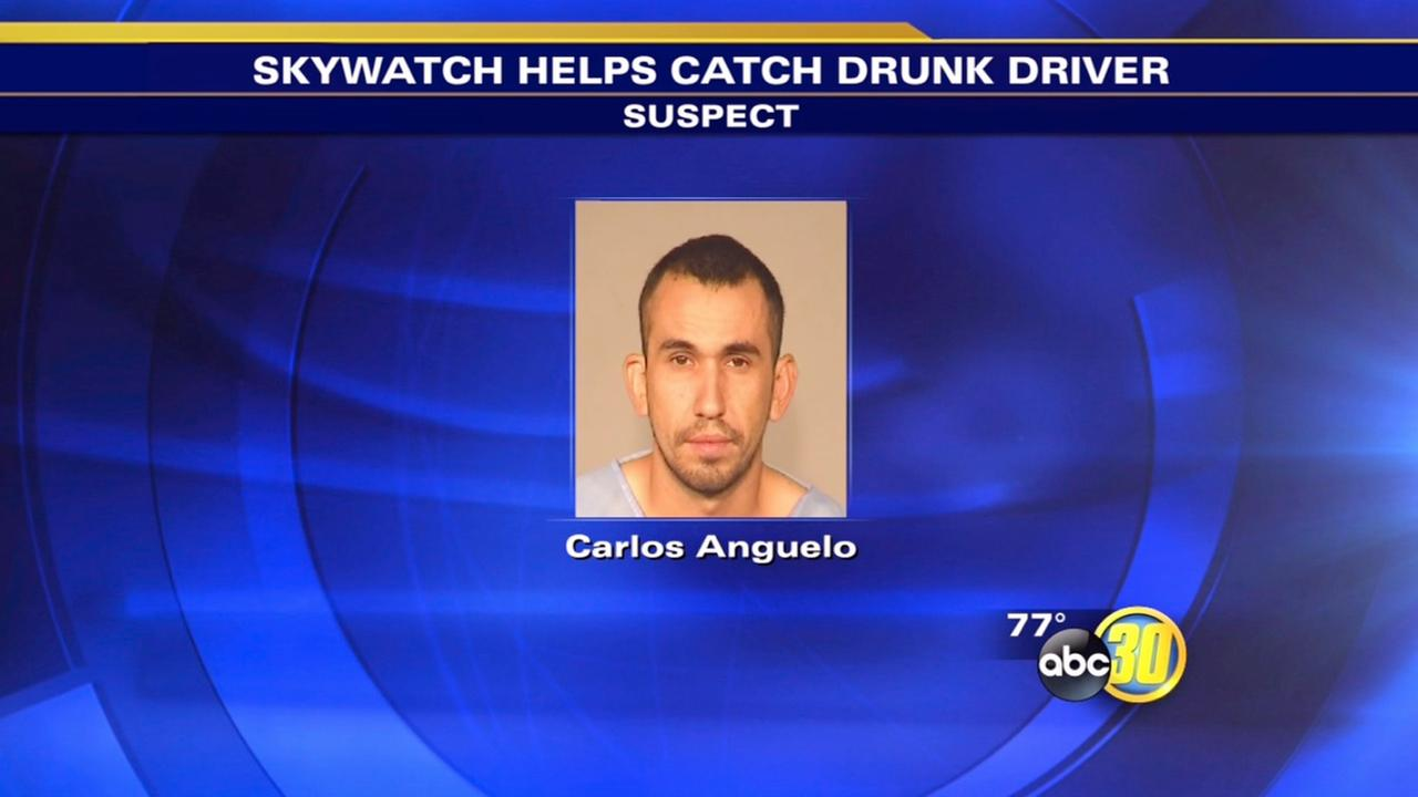 Police helicopter helps track down alleged drunk driver