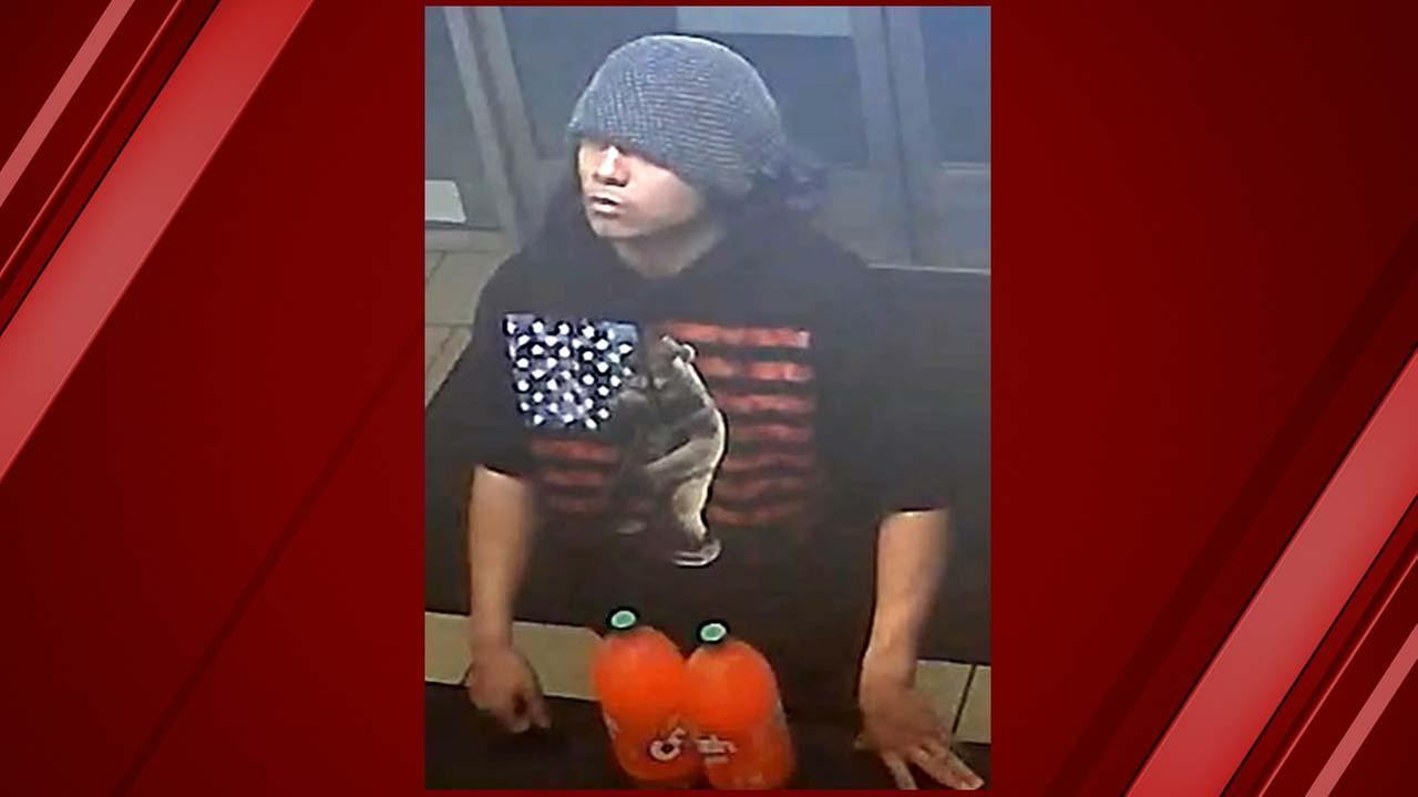 Recently released surveillance footage shows the moment a man robbed a Pizza Hut in Southeast Fresno and authorities wants your help finding him.