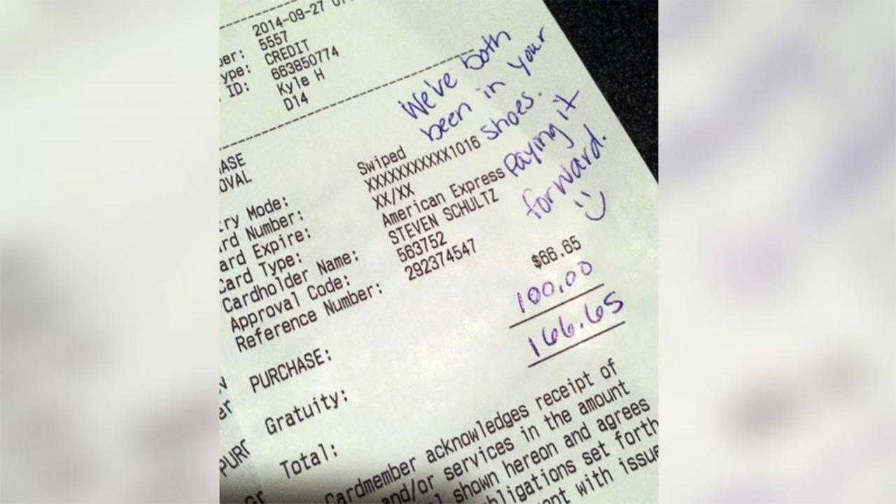 An Iowa couples generous tip has gone viral because of the reason behind it