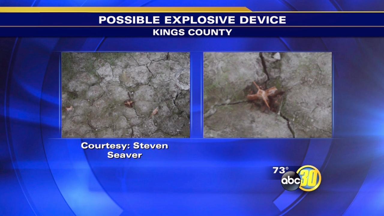 Possible explosive device found near Lemoore deemed inert