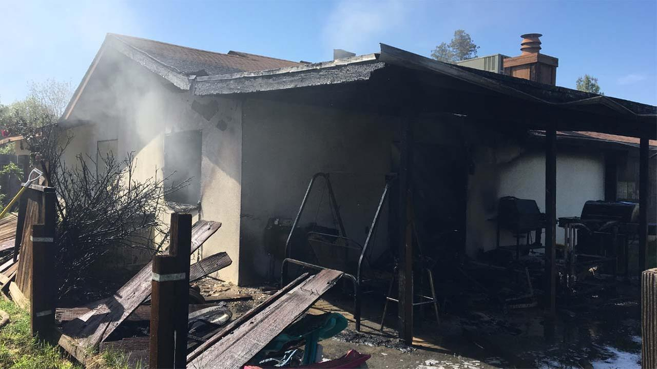 Dog killed in Visalia house fire
