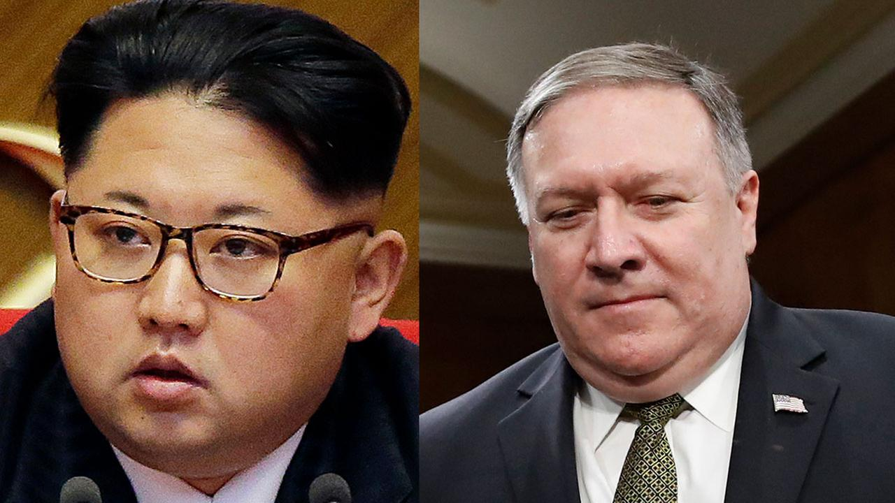 US officials say CIA Director Mike Pompeo has met with North Korean leader Kim Jong Un