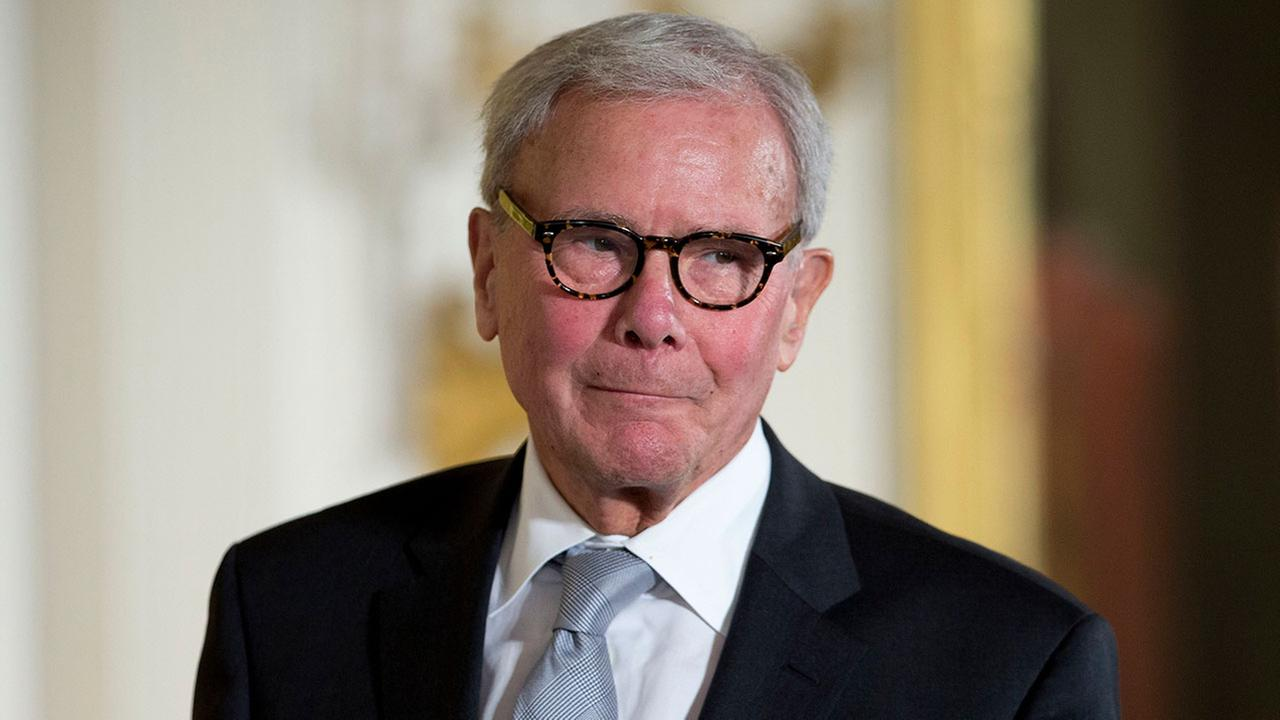 (FILE) - In this Nov. 24, 2014 photo, journalist Tom Brokaw is introduced before being awarded the Presidential Medal of Freedom during a ceremony in the White House.