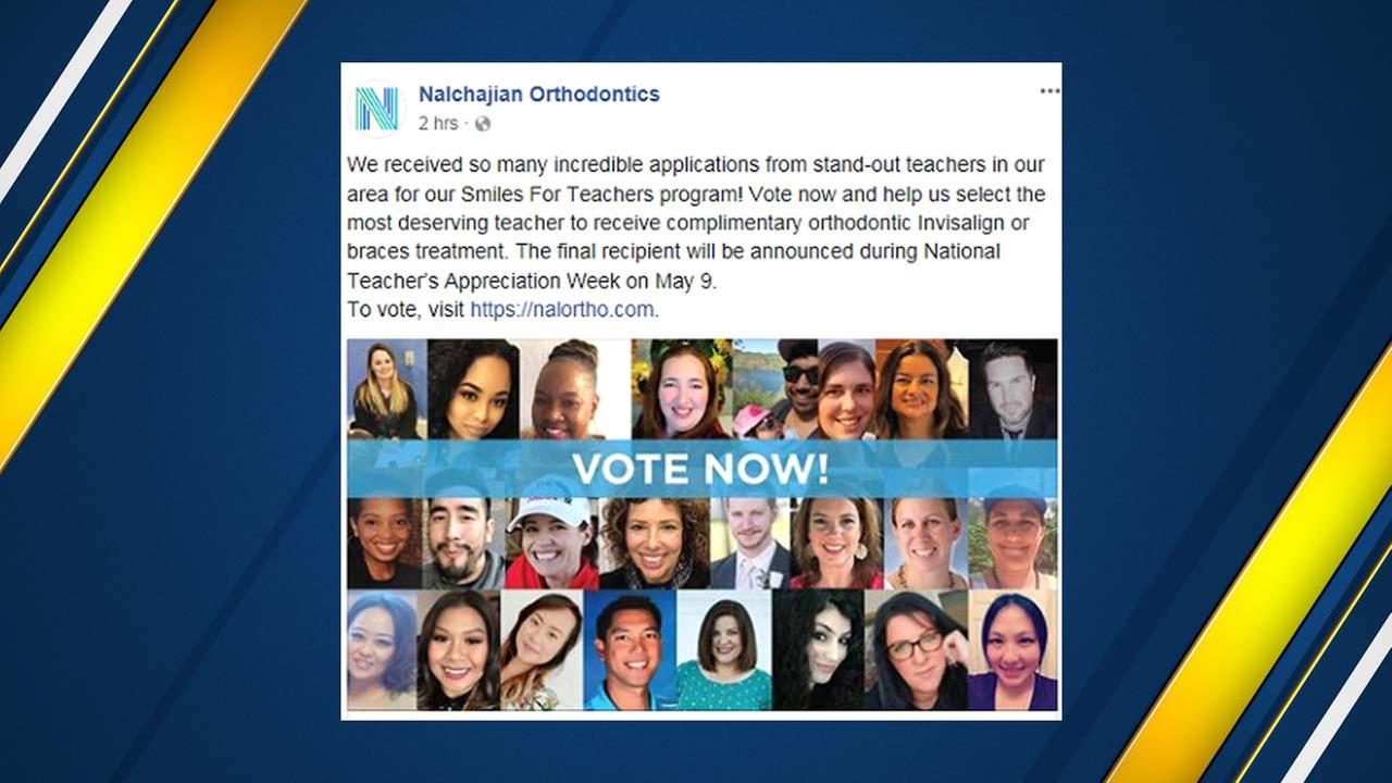 Help a valley teacher get free braces by giving them your vote