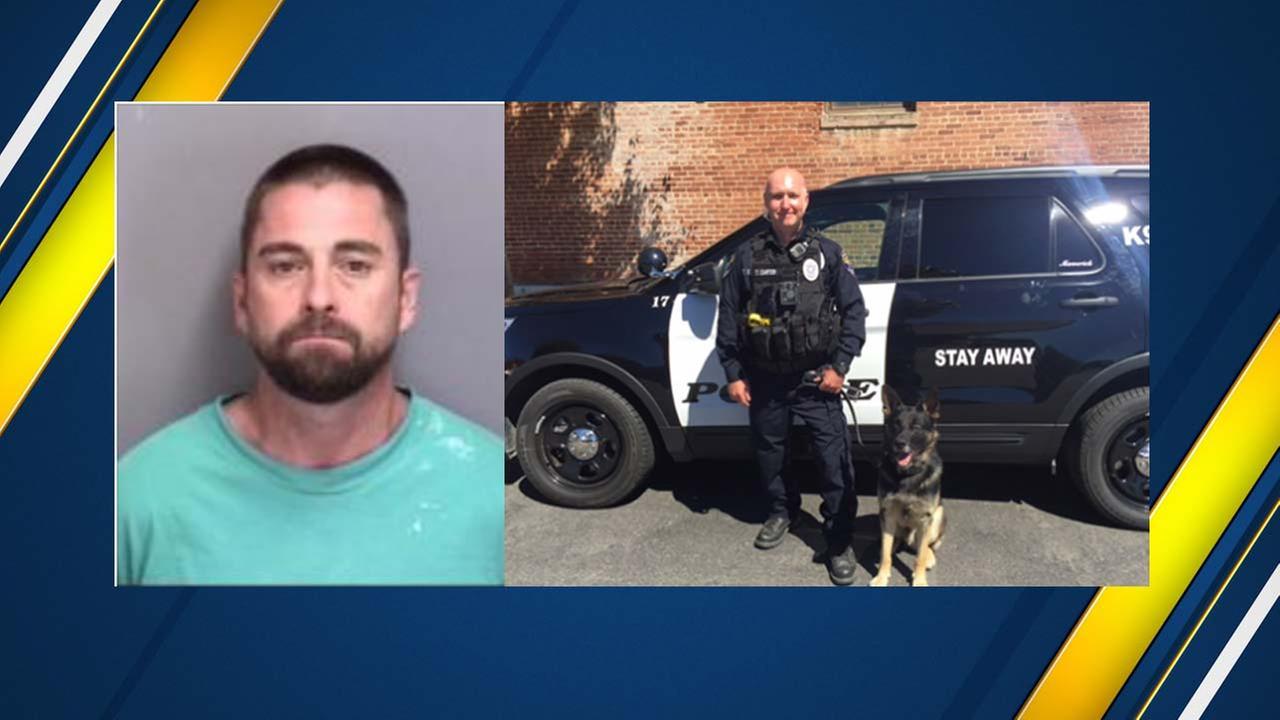 "Los Banos Police dog ""Maverick"" makes quick work of domestic violence suspect"
