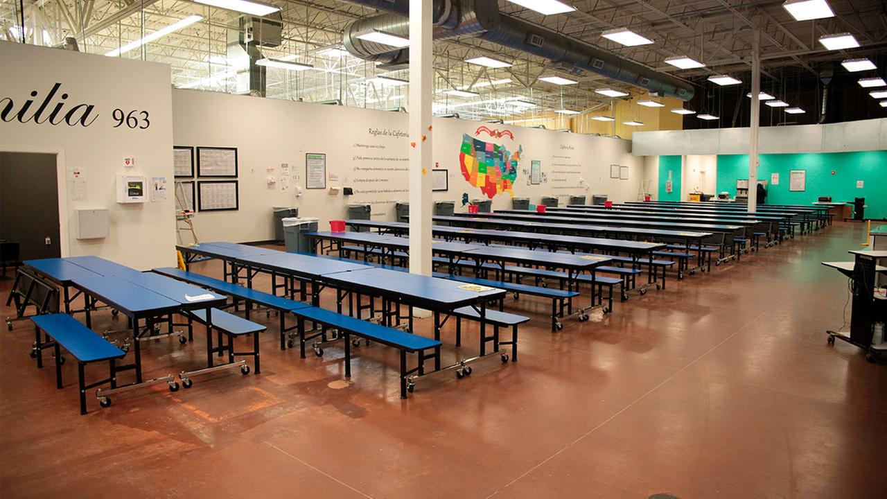 This photo provided by the U.S. Dept. of Health and Human Services Administration for Children and Families shows a shelter used to house immigrant children in Brownsville, TX.