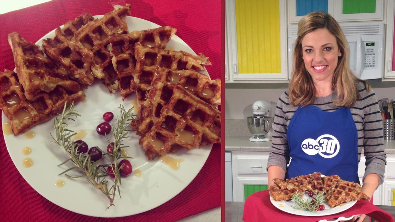 Basic Herbed Bread Dressing - Waffle style recipe