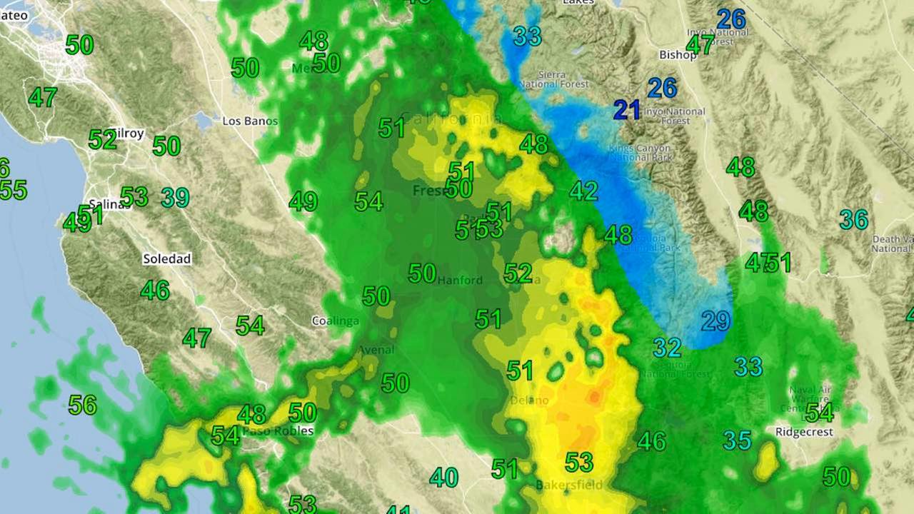 Heavy Rain And Winds Sweep Through Central California Abccom - Los angeles doppler map