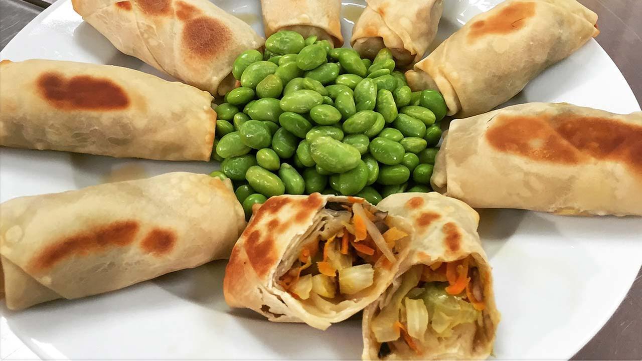 Chef Shaynas Vegetable Spring Rolls recipe
