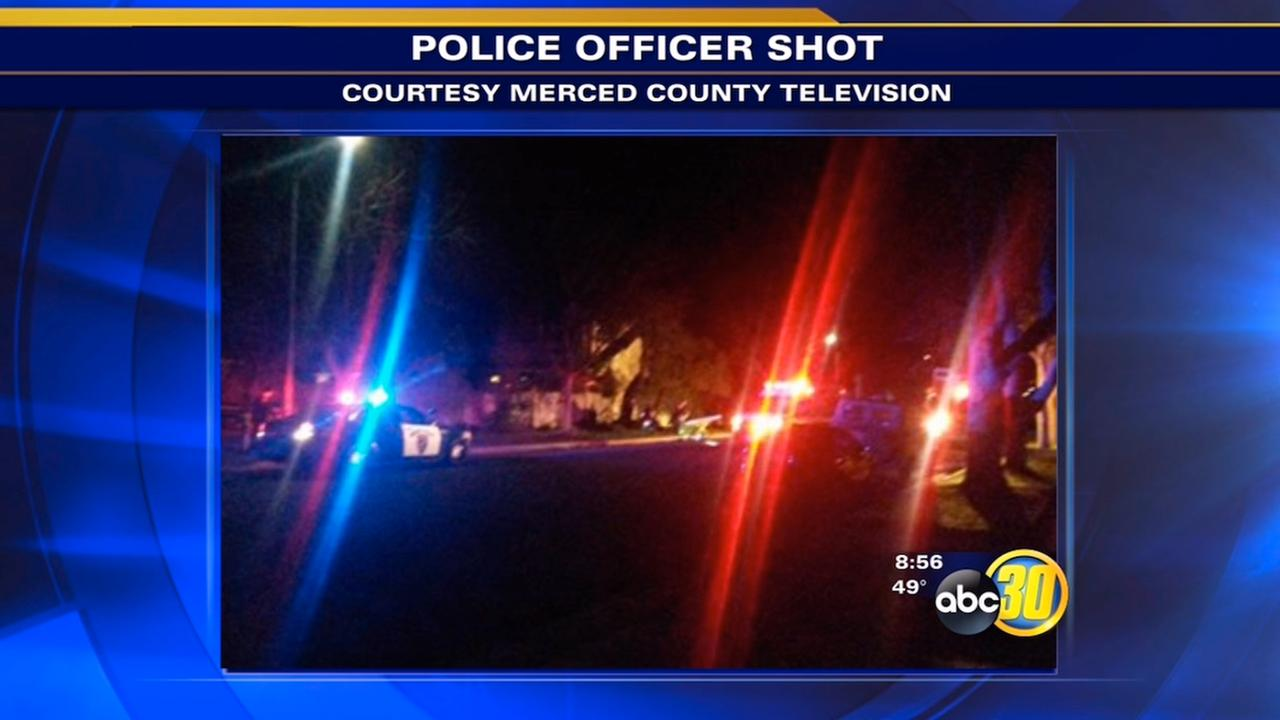 Merced police officer and suspect shot during traffic stop