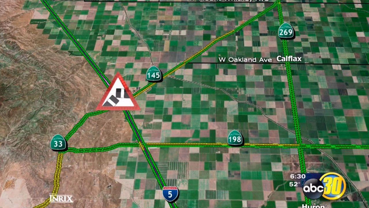 The CHP says an SUV with 11 people inside somehow rolled over on Interstate 5 near Highway 145.