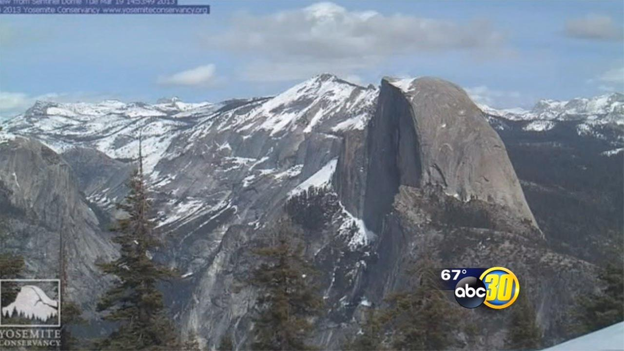 California Drought images of Half Dome and the high Sierra Nevada mountain snowpack over the last five yearsYosemite Conservancy