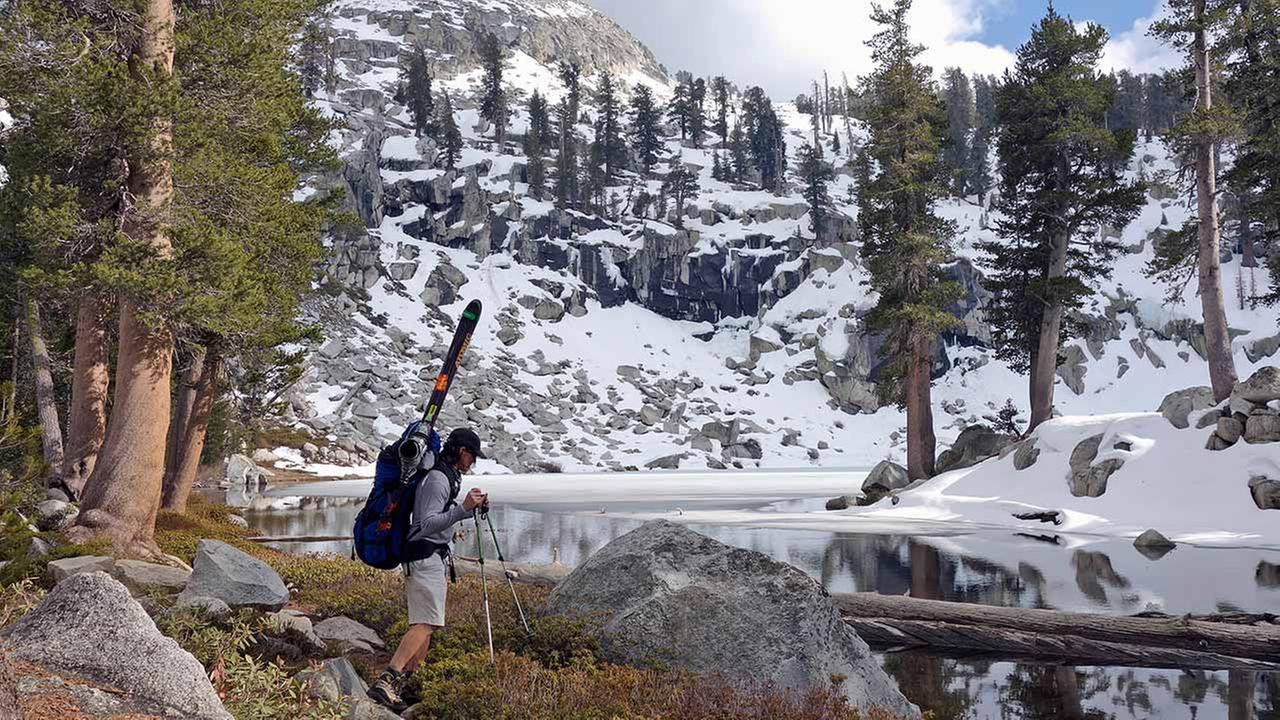 The fourth year of the devastating drought that has dried up wells has also put a burden on backcountry skiers in search of their snowy fix.