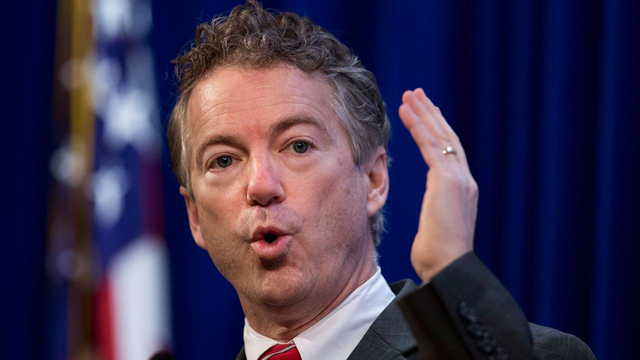 Sen. Rand Paul, R-Ky. speaks at the Heritage Foundations Conservative Policy Summit in Washington, Tuesday, Jan. 13, 2015.