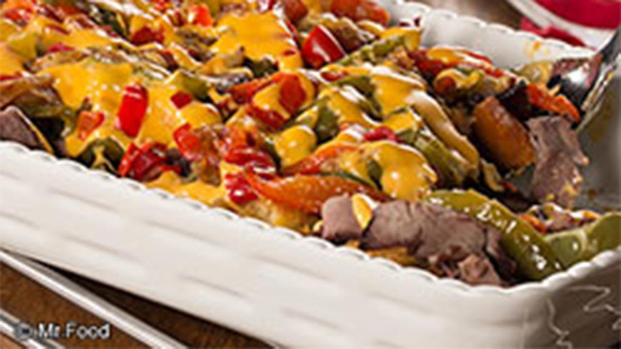 Philly Cheese Steak Bake recipe