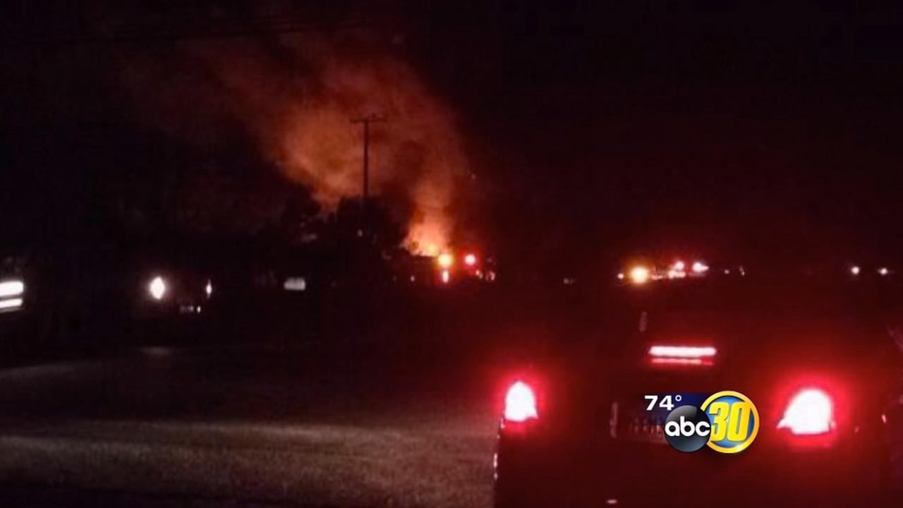 Hash oil suspected in Tulare County fire that destroyed outbuildings