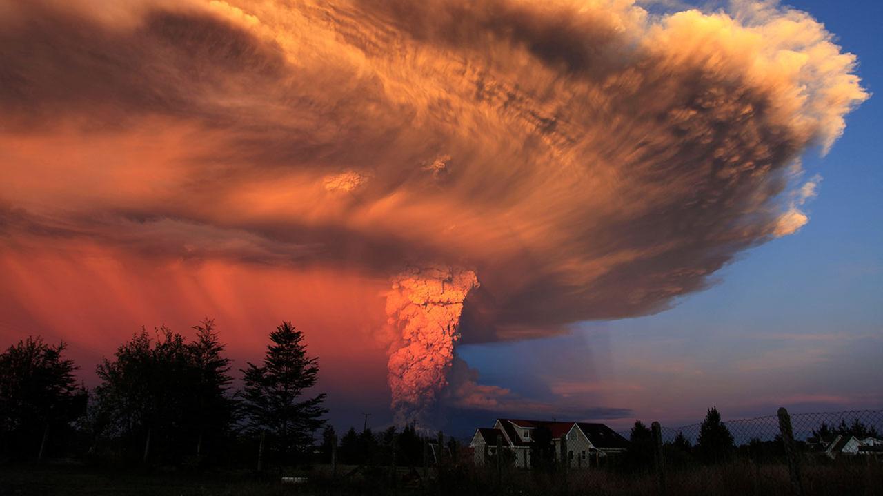 The Calbuco volcano erupts near Puerto Varas, Chile, Wednesday, April 22, 2015. Diego Main/Aton Chile