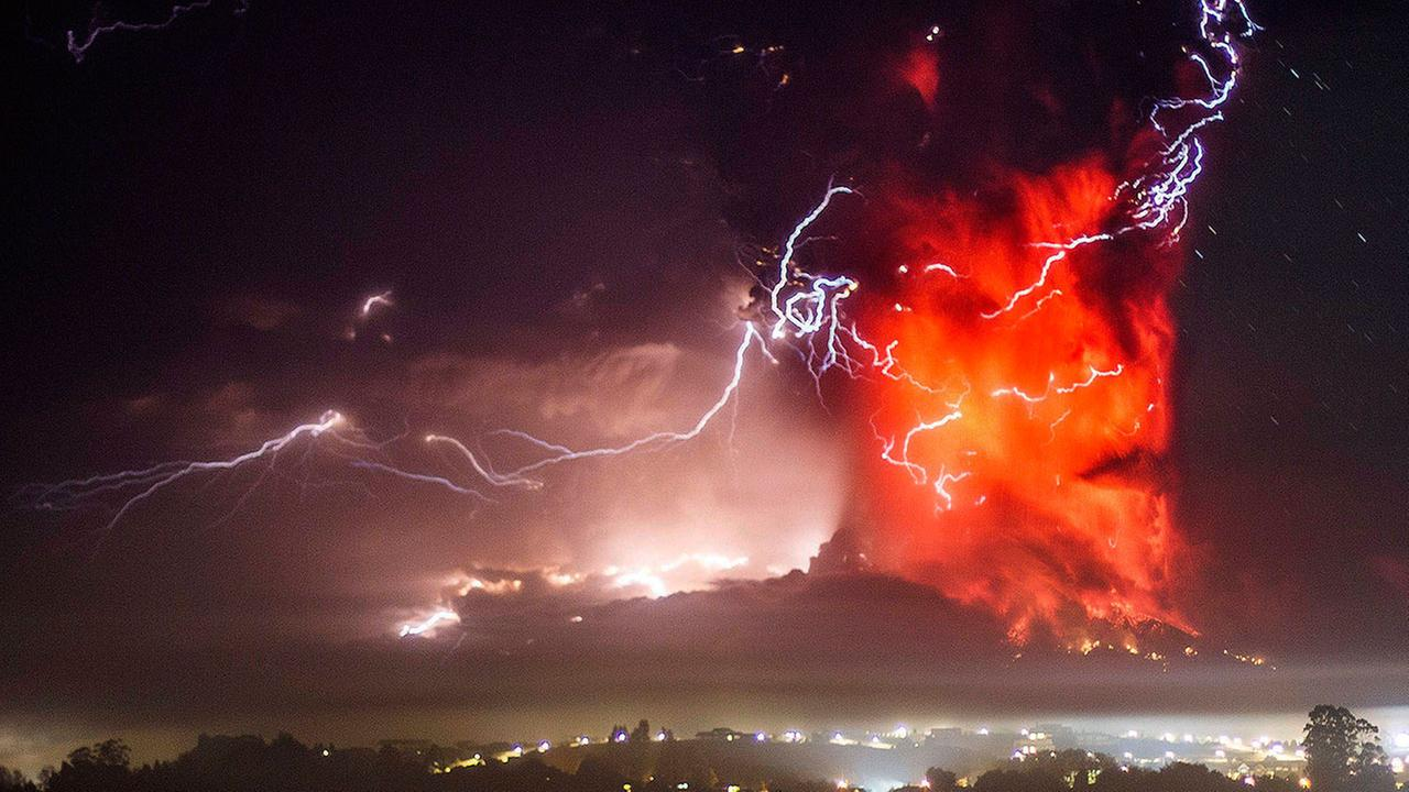 The Calbuco volcano erupts near Puerto Varas, Chile, Thursday, April 23, 2015.