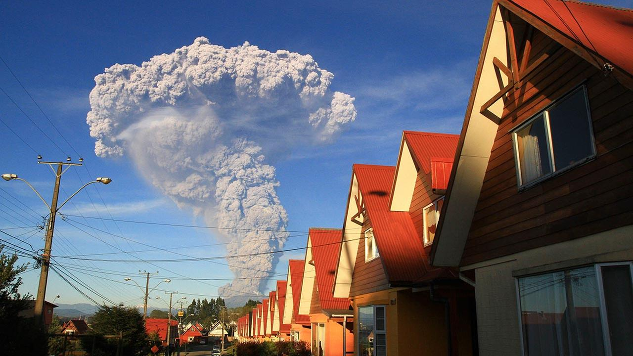 The Calbuco volcano is seen erupting from Puerto Varas, Chile, Wednesday, April 22, 2015. Carlos F. Gutierrez