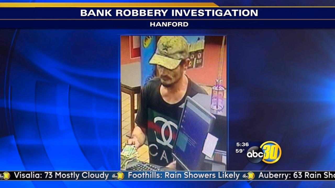 Hanford bank robbery suspect