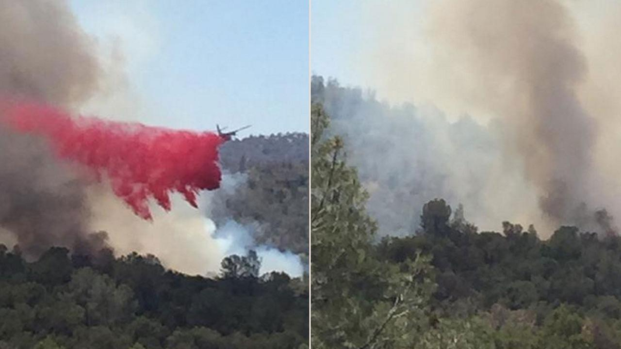 ?#abc30insider @gherimicheleCPC sent in these pictures from the Fox Fire in Mariposa County.