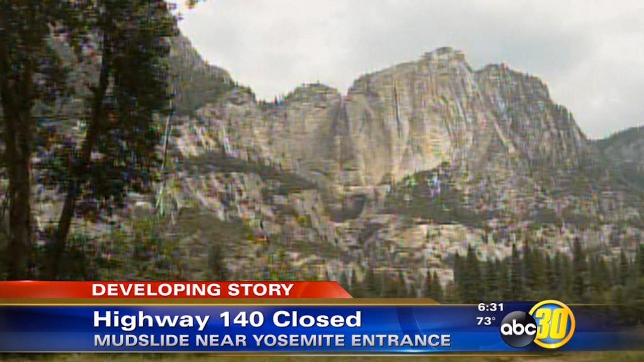 Mudslide closes Highway 140 near entrance to Yosemite ...