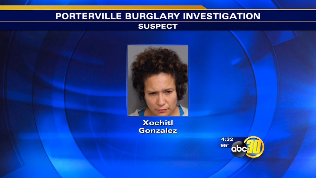 Xochitl Gonzalez, 40, was arrested in connection with a burglary in Porterville on Monday, July 27, 2015.