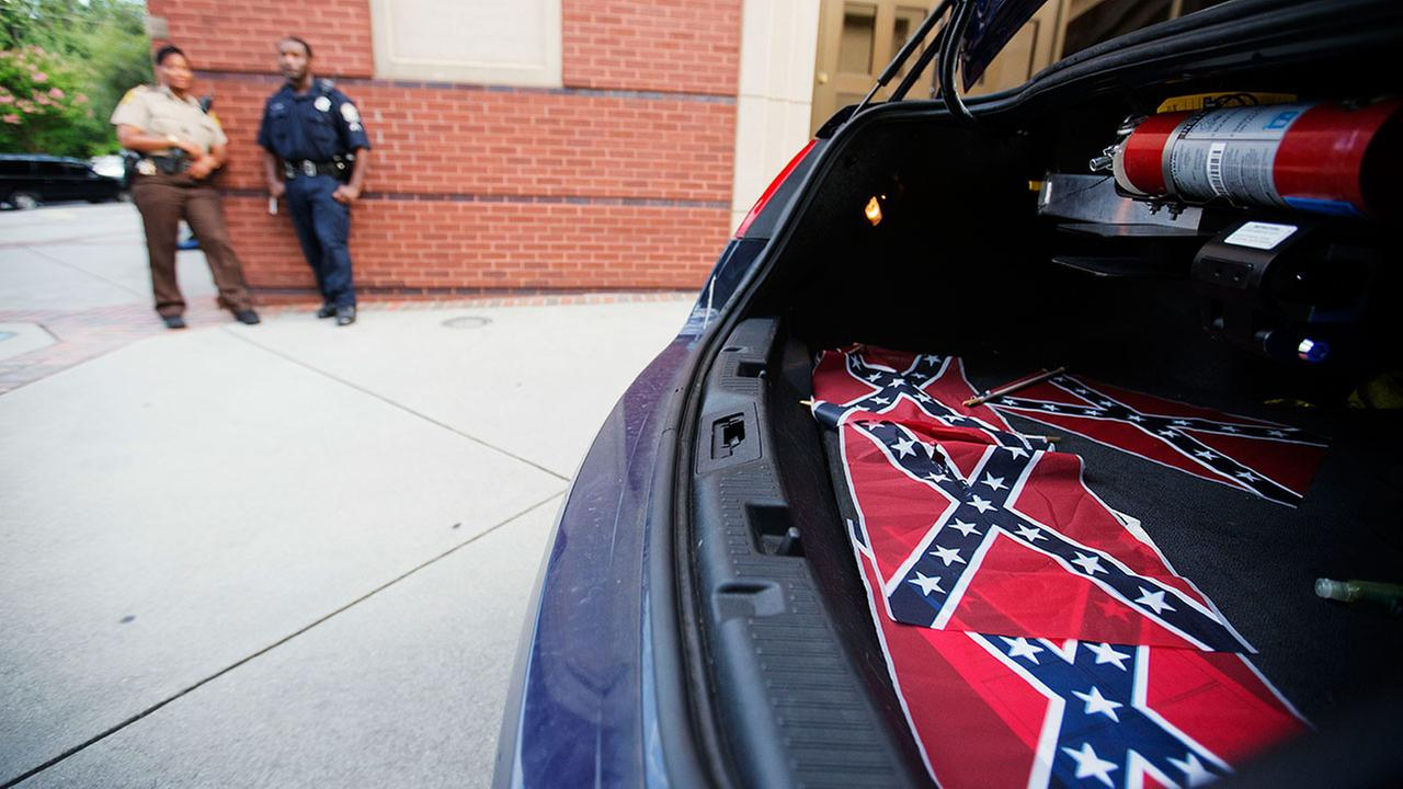 Confederate flags at Rev. Martin Luther King Jr.s church
