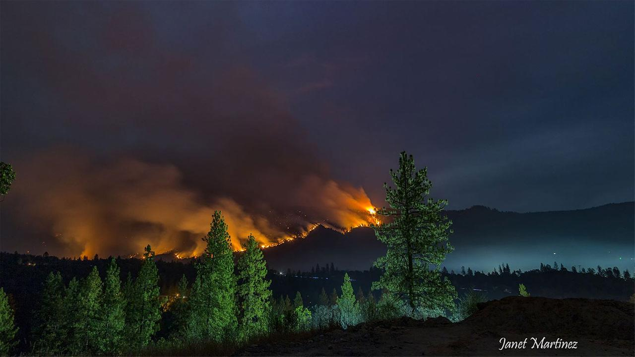 Willow Fire as seen from North Fork