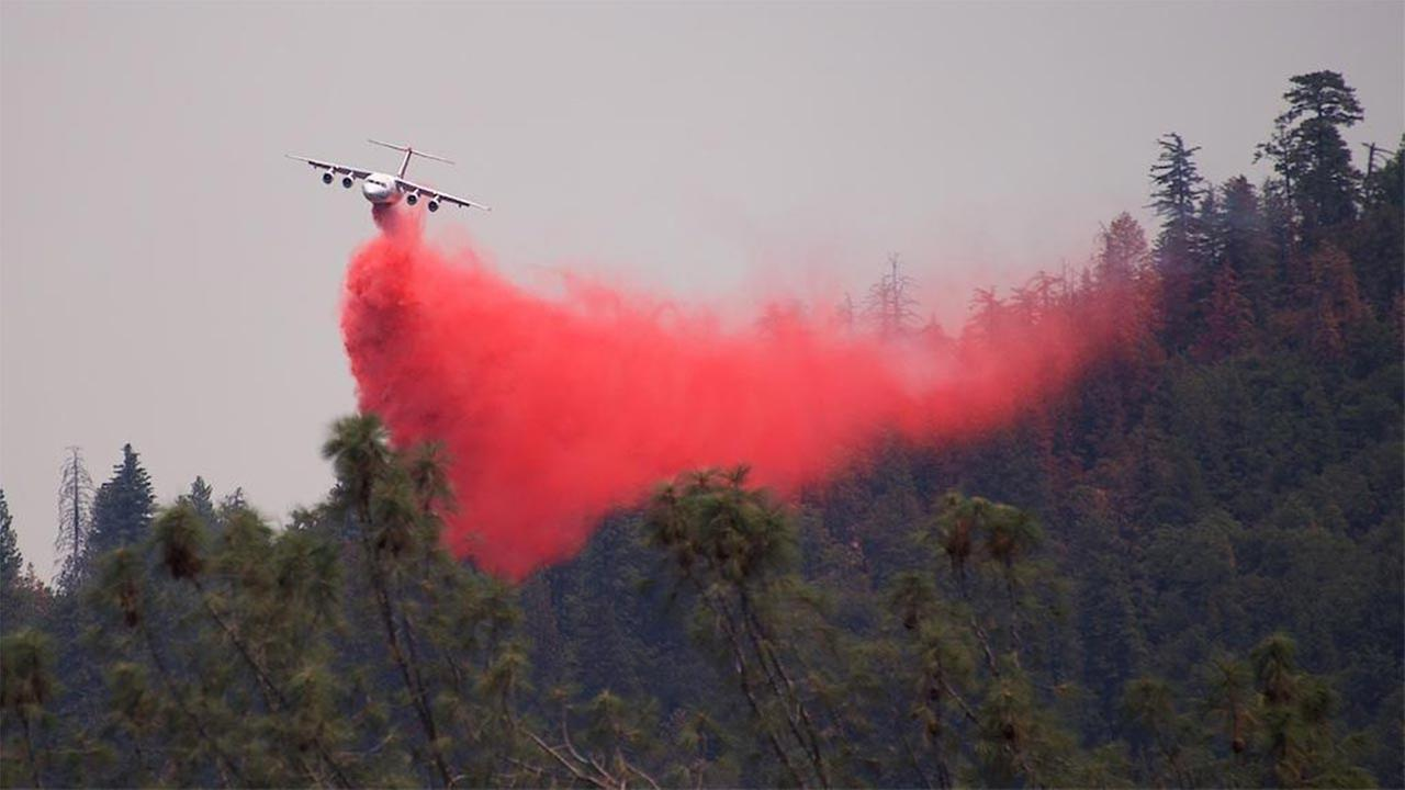 Air tanker supporting ground operations