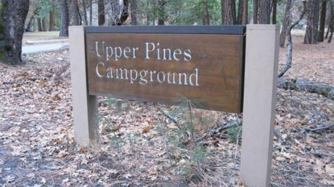 FILE: Sign at Upper Pines Campground in Yosemite Valley.