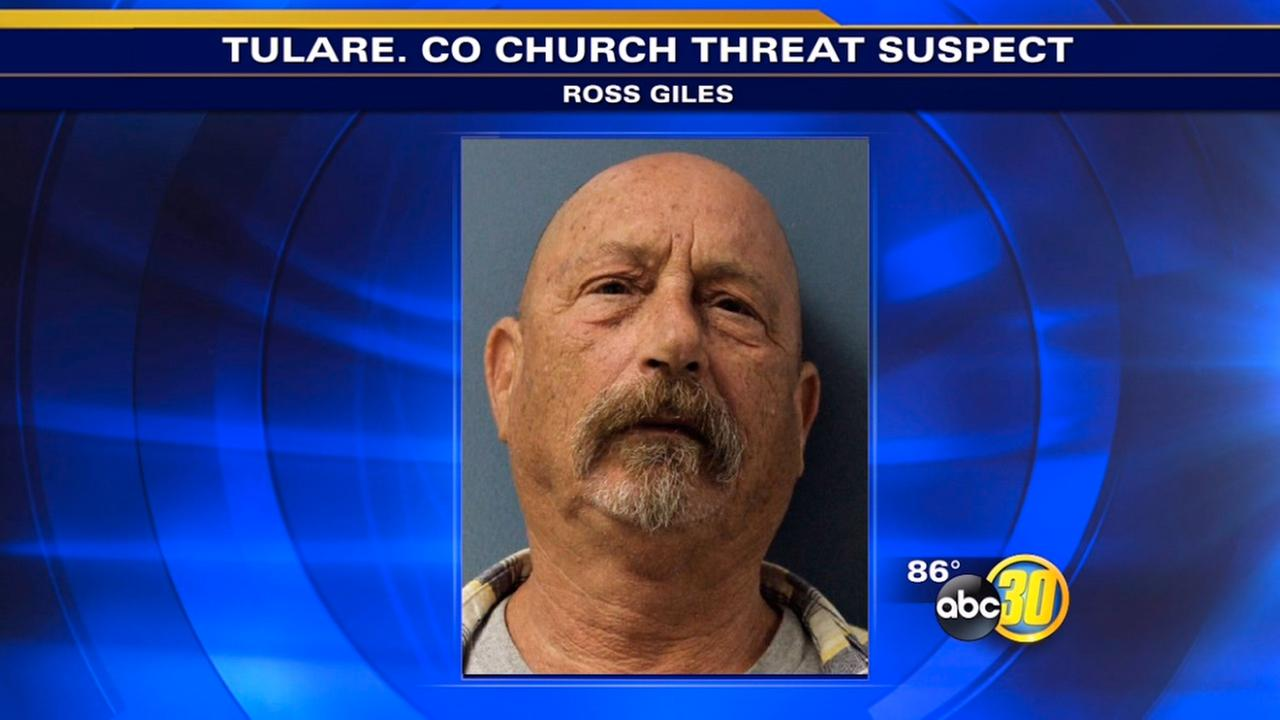 Man accused of threatening churches arrested in Porterville