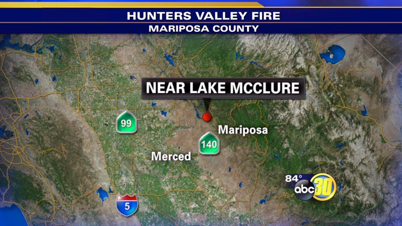 Mariposa County wildfire prompts evacuations