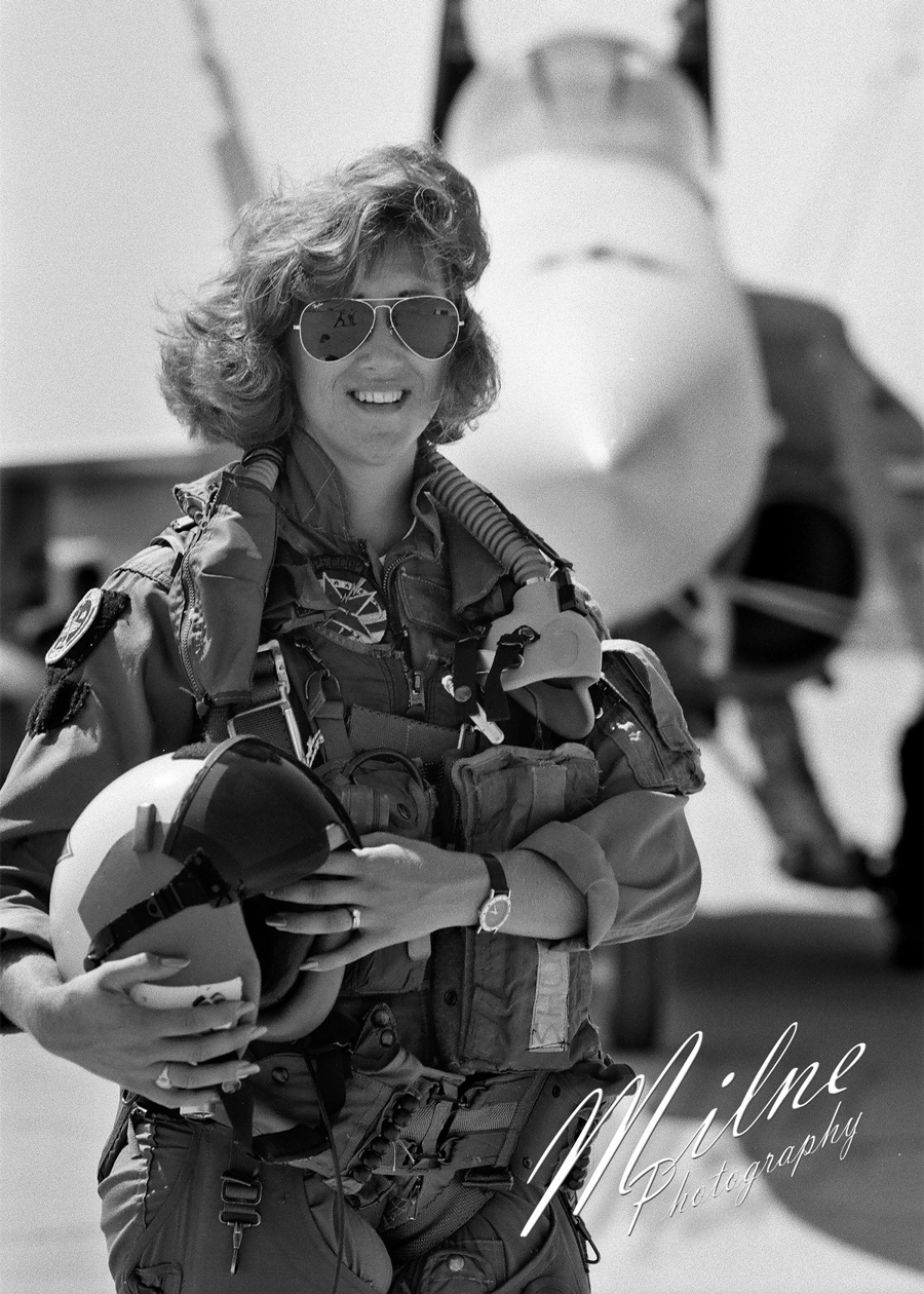 <div class='meta'><div class='origin-logo' data-origin='none'></div><span class='caption-text' data-credit='Tom Milne / Milne Photography'>Image of Tammie Jo Shults taken by Tom Milne in 1992 when he was a Navy Photojournalist.</span></div>
