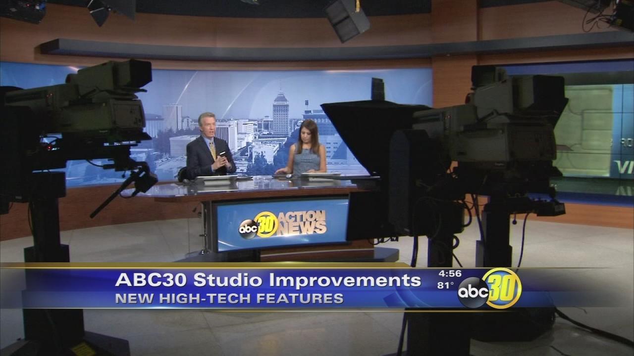 ABC30 Action News studio gets improvements