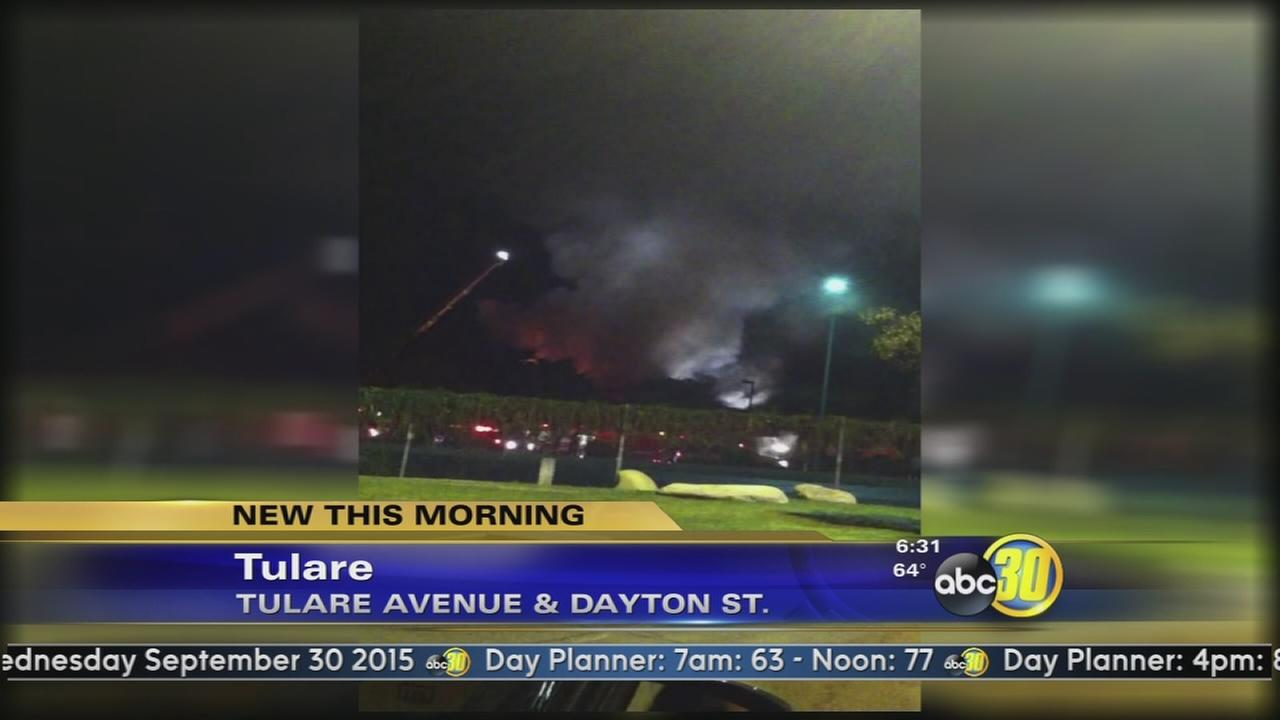 Fire damages Tulare drive-in restaurant