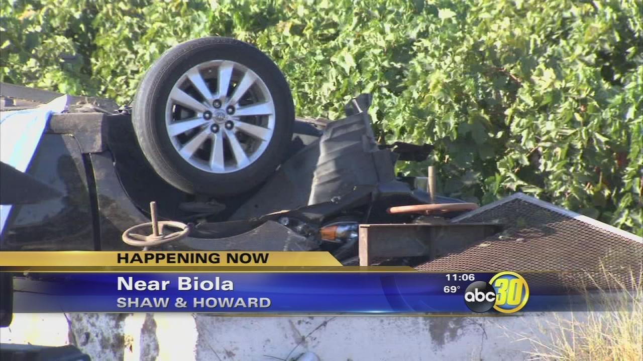 Stockton man killed in crash near Biola