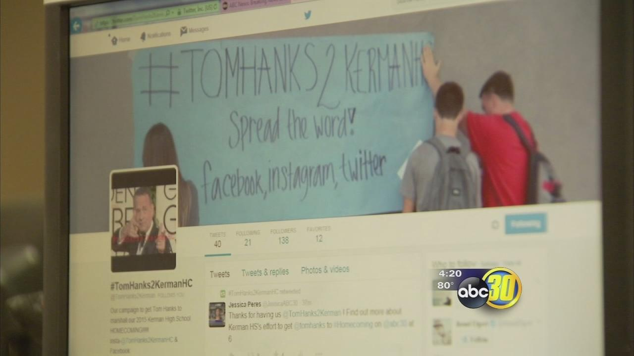 Tom Hanks makes short video for Kerman High homecoming