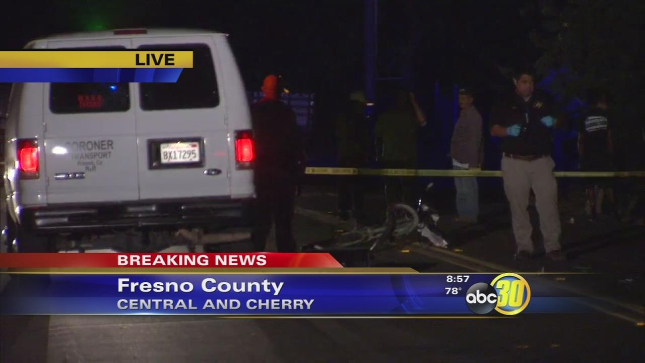 Man on bicycle killed after colliding with SUV in Fresno County