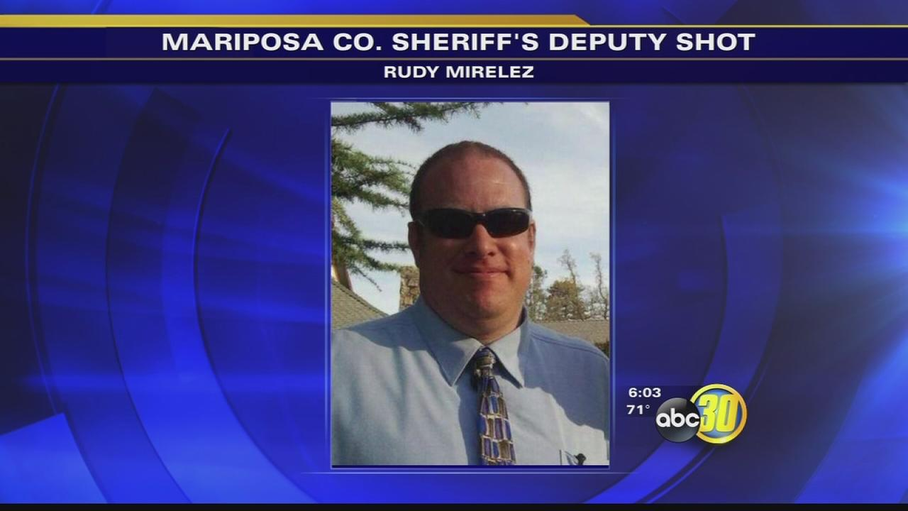 Mariposa County deputy showing signs of improvement after being shot