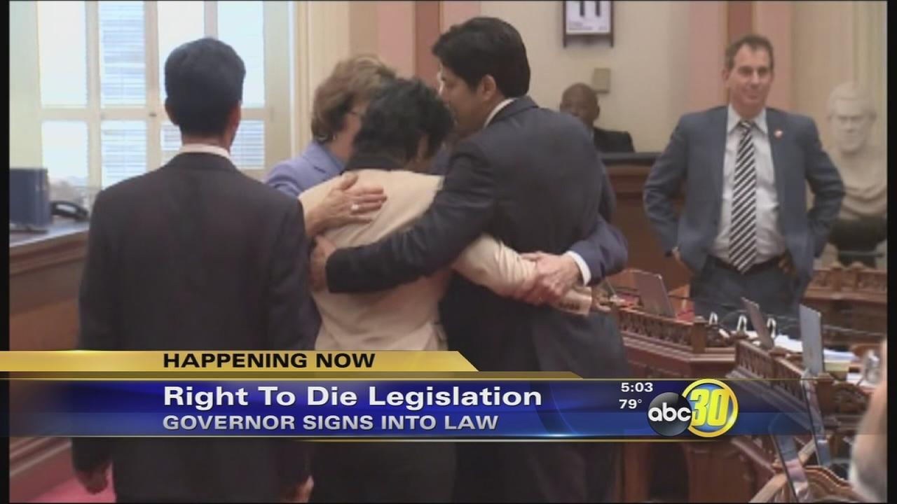 Gov. Jerry Brown signs right-to-die legislation
