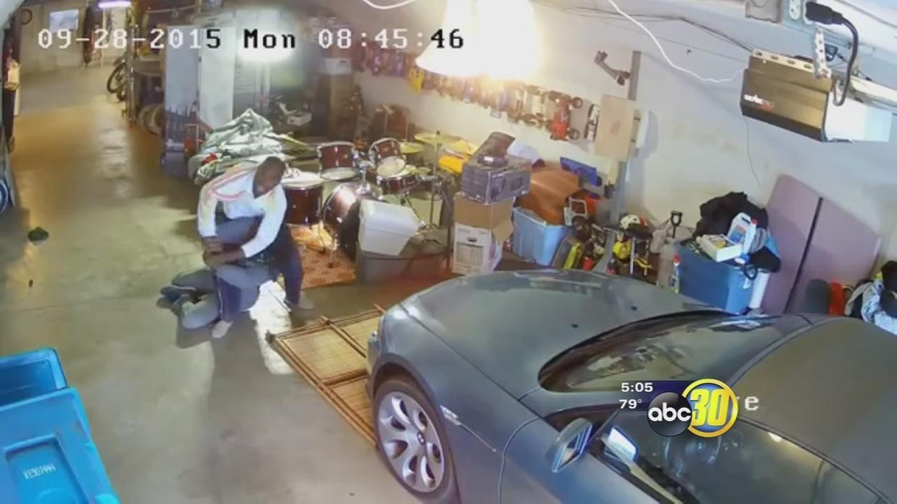 San Francisco man being attacked in his own grage caught on video