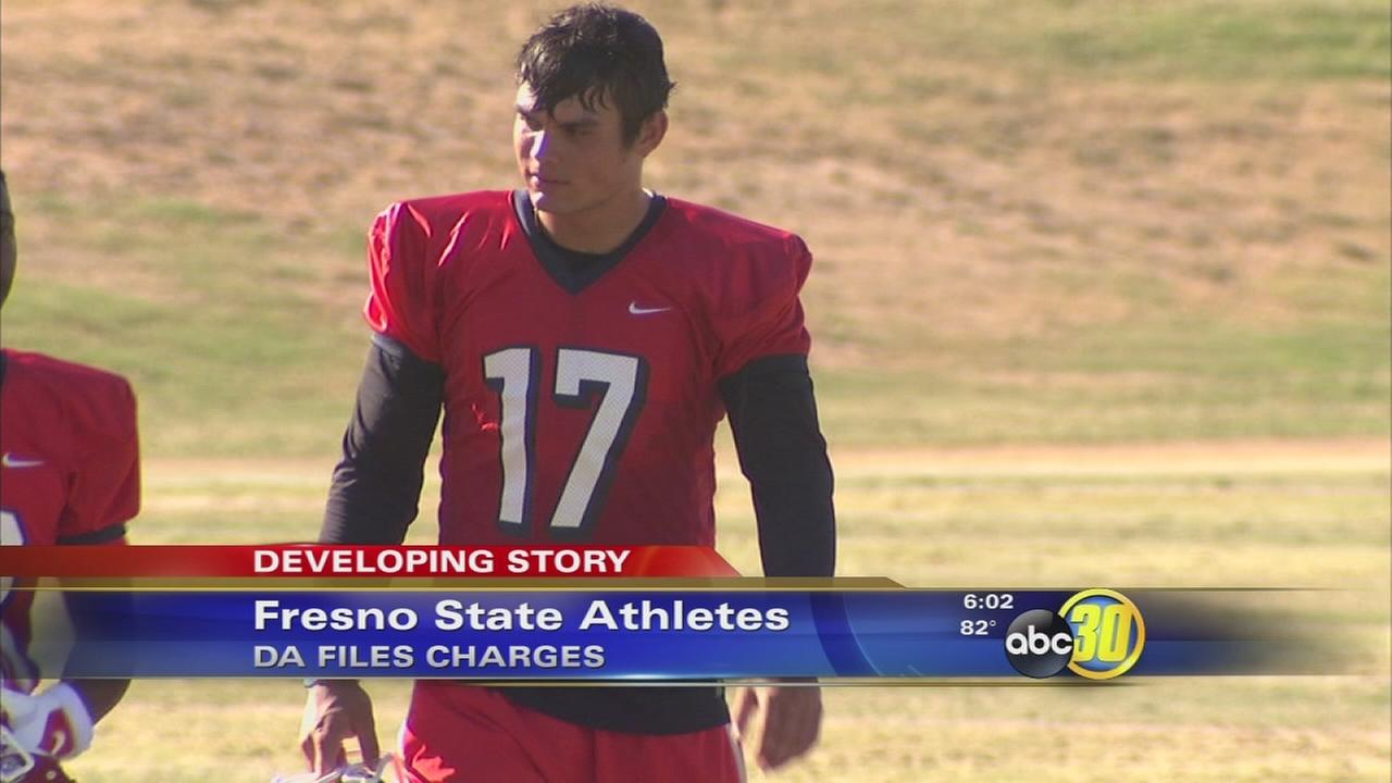 Charges filed against Fresno State athletes after arrest at post game party