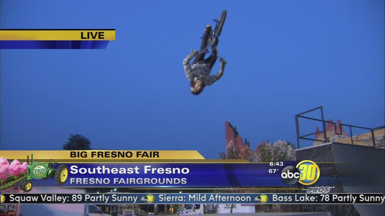 BMX riders put on a jaw dropping show at the Big Fresno Fair
