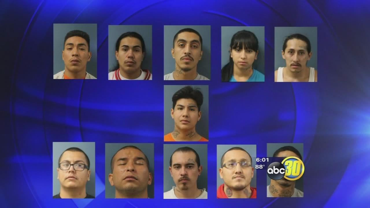 Massive sweep leads to arrest and charge of 80 gang members