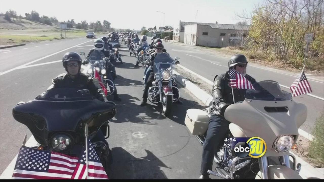Local bikers honor veterans with a remembrance ride